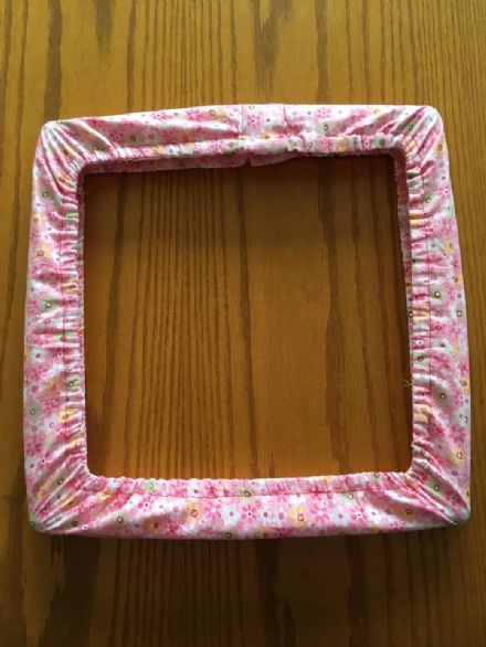 "Grime Guard for 14x14"" square frame, Pink Flowers"
